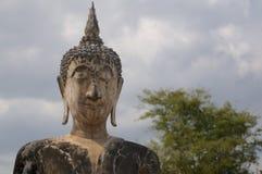 Testa del Buddha di pietra di Wat Maechon fotografie stock
