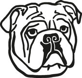 Testa del bulldog royalty illustrazione gratis