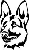 Testa del cane da pastore tedesco Immagine Stock Libera da Diritti