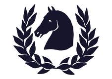 Testa del cavallo con alloro royalty illustrazione gratis
