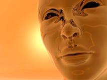 Testa del Cyborg Immagini Stock Libere da Diritti