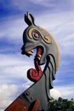 Testa del drago della nave del Vichingo Fotografia Stock Libera da Diritti