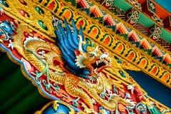 Testa del drago in tempio buddista Immagine Stock