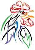 Testa del gallo - Fotografia Stock