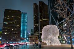 Testa del gigante dell'arco di Calgary del centro immagini stock