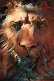 Testa del leone fotografia stock libera da diritti