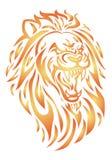 Testa del leone del fuoco Fotografie Stock