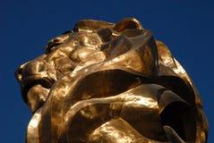 Testa del leone dell'oro Fotografie Stock