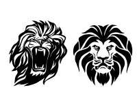 Testa del leone Logotype del modello Illustrazione creativa Fotografie Stock Libere da Diritti