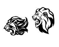 Testa del leone Logotype del modello Illustrazione creativa Immagine Stock