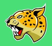 Testa del leopardo illustrazione vettoriale