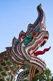 Testa del Naga con cielo blu. Fotografia Stock Libera da Diritti