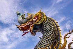 Testa del Naga su cielo blu Fotografie Stock
