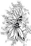 Testa del nativo americano Immagini Stock