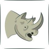 Testa del rinoceronte Fotografie Stock
