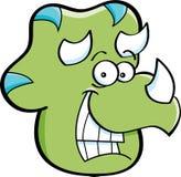 Testa del Triceratops Fotografia Stock