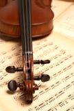 Testa del violino Fotografia Stock Libera da Diritti