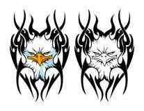 testa dell'aquila calva con la mascotte tribale del fondo può usare per il logo di sport Fotografia Stock Libera da Diritti