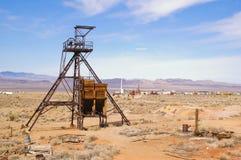 Testa dell'asse di estrazione mineraria Fotografia Stock Libera da Diritti