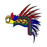 Testa dell'Azteco del cofano Fotografia Stock Libera da Diritti