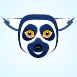 Testa dell'icona delle lemure Immagine Stock