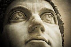 Testa dell'imperatore Constantine, Campidoglio, Roma fotografia stock libera da diritti
