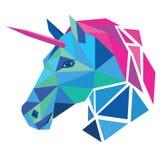 Testa dell'unicorno immagini stock libere da diritti