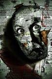 Testa dell'uomo sulla parete Immagini Stock Libere da Diritti