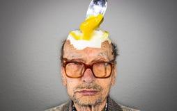 Testa dell'uovo fotografie stock