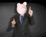 Testa della banca Piggy Immagini Stock