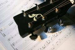 Testa della chitarra Fotografie Stock Libere da Diritti