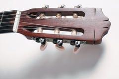 Testa della chitarra acustica Immagini Stock Libere da Diritti