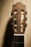 Testa della chitarra acustica Immagine Stock Libera da Diritti