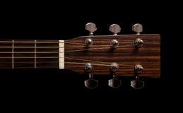 Testa della chitarra con il collo Fotografia Stock