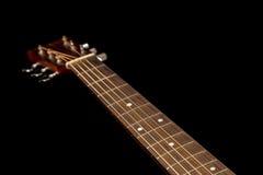 Testa della chitarra con il collo Fotografia Stock Libera da Diritti
