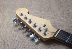 Testa della chitarra elettrica Fotografia Stock