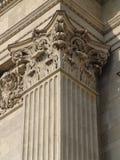 Testa della colonna del classicista, basilica della st Stephen Fotografia Stock