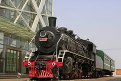Testa della locomotiva a vapore Immagine Stock