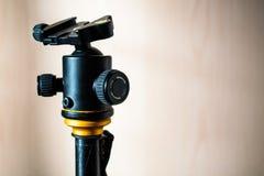 Testa della macchina fotografica del treppiede fotografia stock