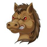 Testa della mascotte di un cavallo illustrazione vettoriale