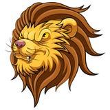 Testa della mascotte di un leone illustrazione di stock