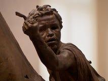 Testa della scultura bronzea Fotografie Stock