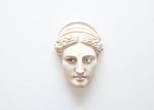 Testa della scultura di Era con gli occhi umani immagini stock libere da diritti