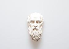 Testa della scultura di Zeus fotografia stock