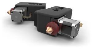testa della stampante 3D Fotografia Stock Libera da Diritti