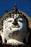 Testa della statua del Buddha Fotografie Stock