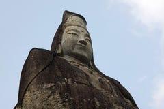 Testa della statua di Kannon di pace di Oya vicino ad Utsunomiya nel Giappone fotografie stock libere da diritti