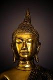 Testa della statua dorata di Buddha Fotografia Stock Libera da Diritti