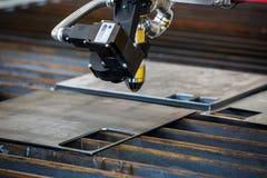 Testa della tagliatrice del plasma di CNC 3D fotografia stock libera da diritti