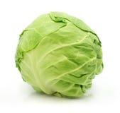 Testa della verdura del cavolo verde isolata Fotografie Stock